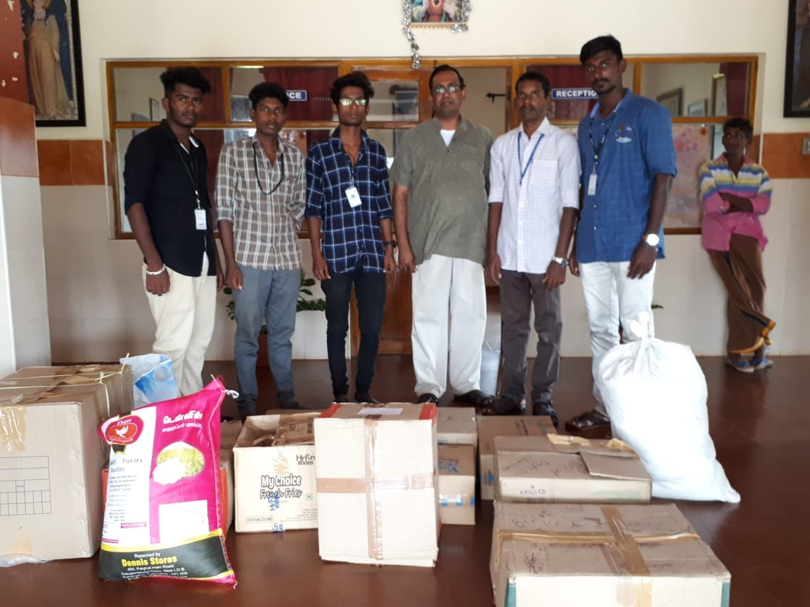 Groceries collected for HIV/AIDS Centre