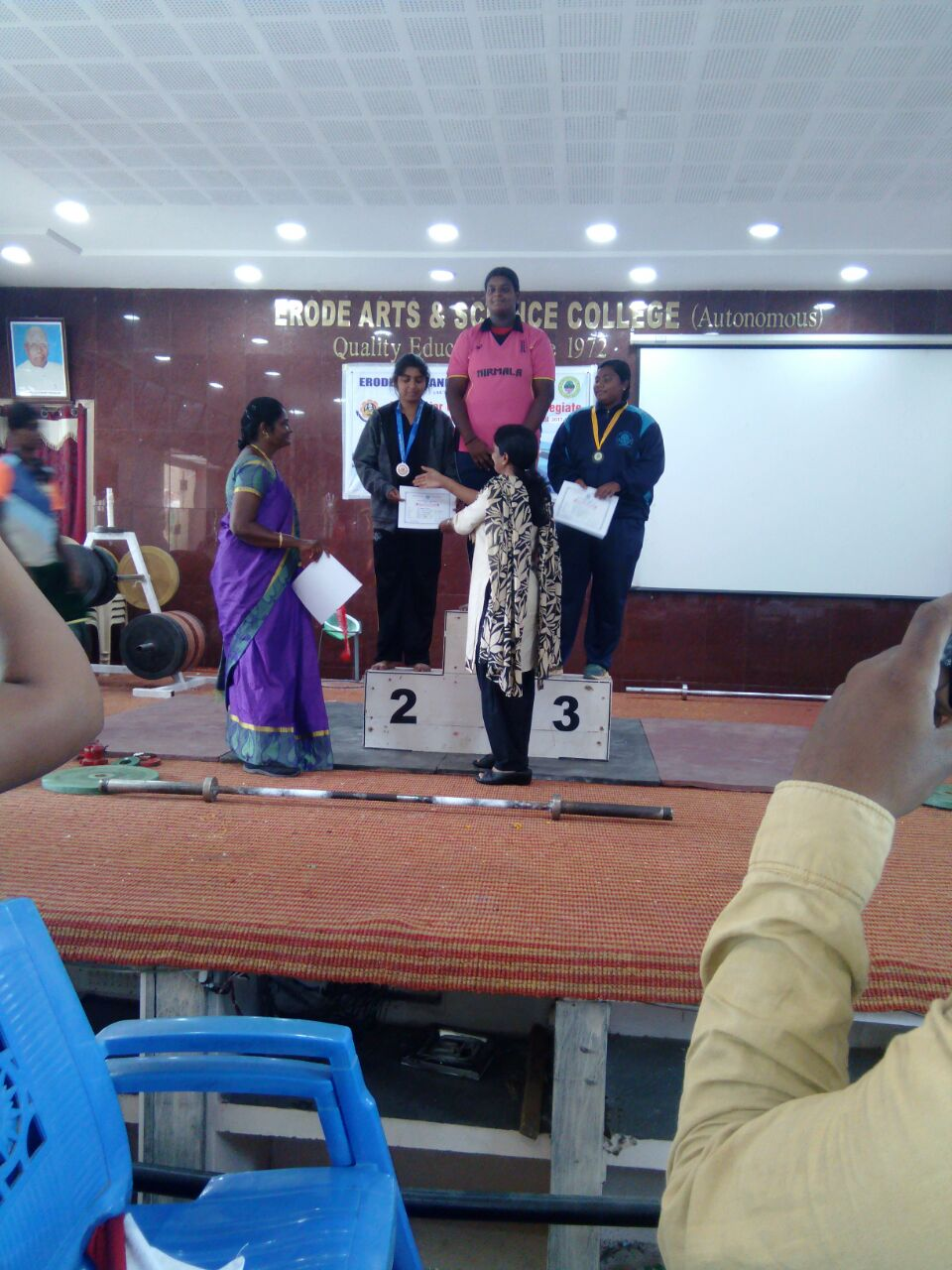 District Level Weight lifting Competition under 53 kg